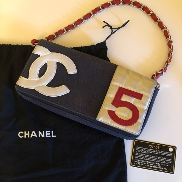 CHANEL Handbags - Authentic CHANEL No 5 Pochette Purse